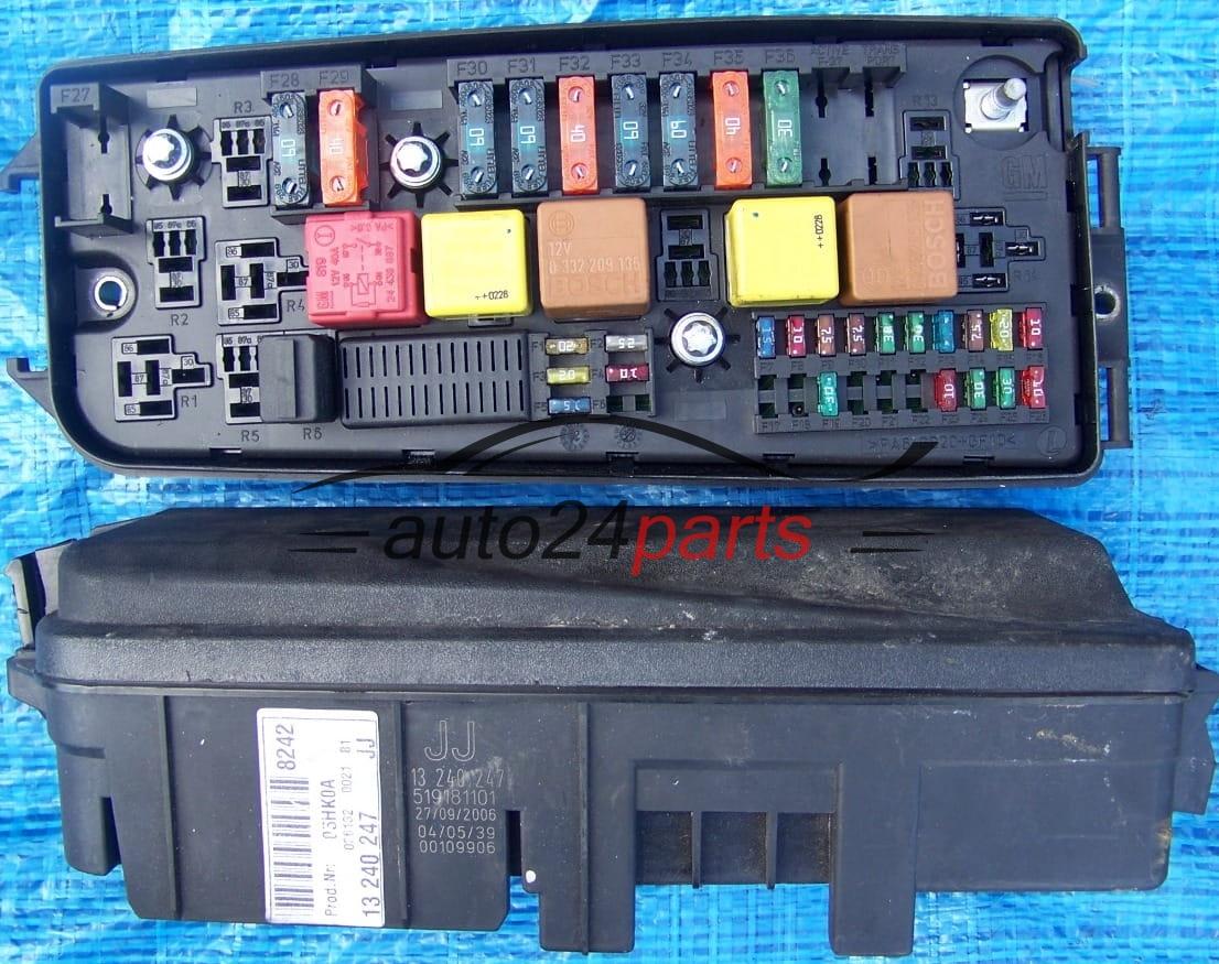 les pièces automobiles - BOITE ELECTRIQUE A RELAIS ET FUSIBLE OPEL VECTRA C SIGNUM 13240247 JJ ...