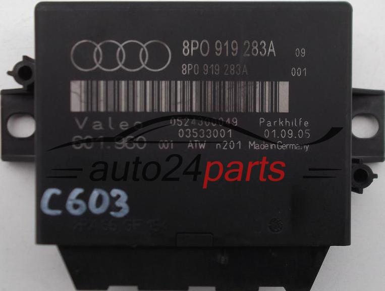 PARKING CONTROL MODULE PDC AUDI A3, 8P0 919 283A, 8P0919283A, 0524300049,  03533001 (1)