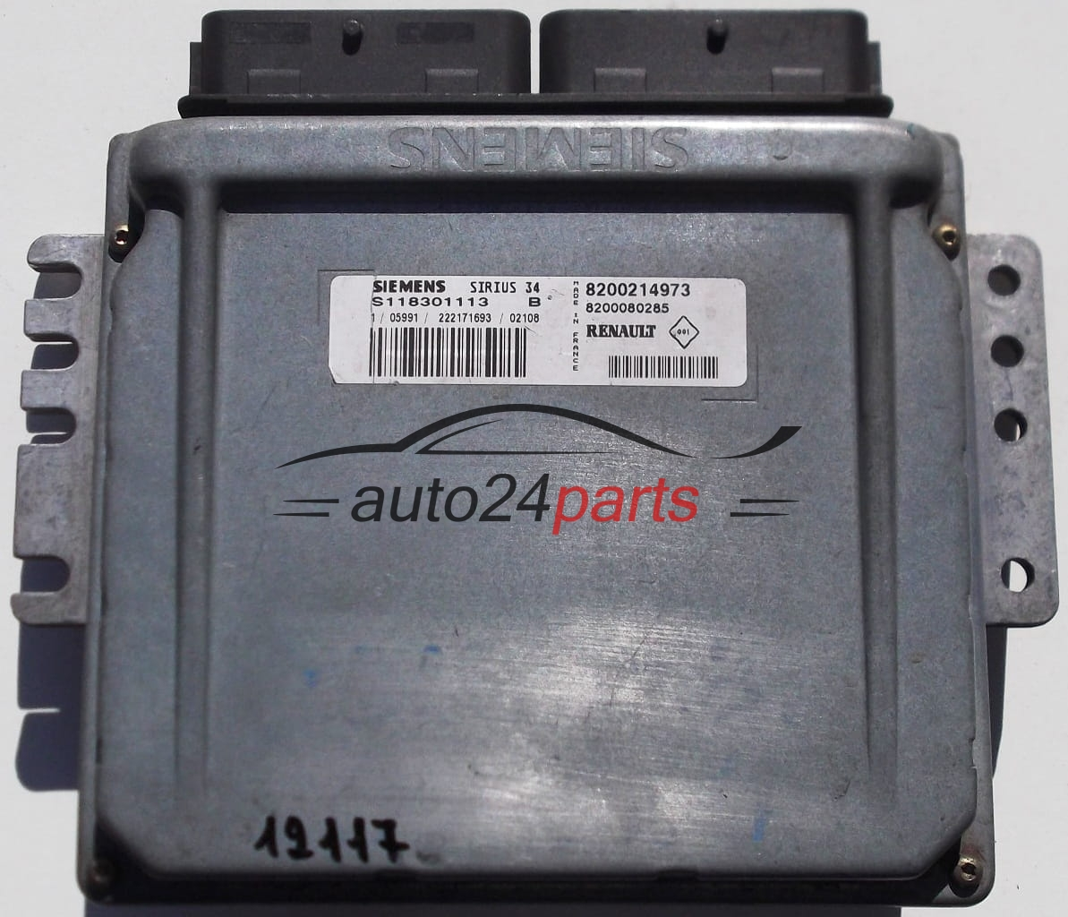 Ecu Engine Controller Renault Clio Siemens S118301113 B  S118301113b  8200214973  8200080285
