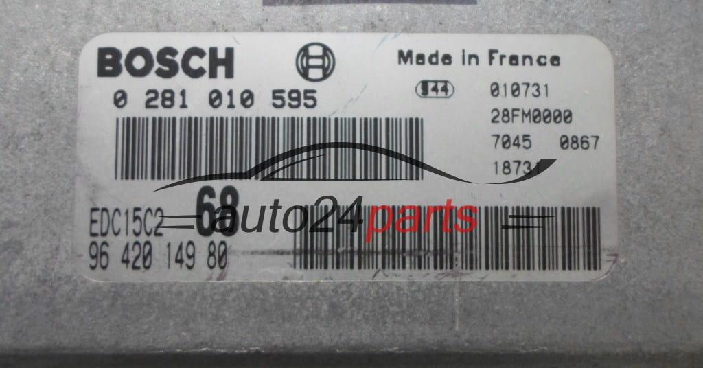 Motorsteuergerät CITROEN XSARA 0281010595 0 281 010 595 9642014980 EDC15C2