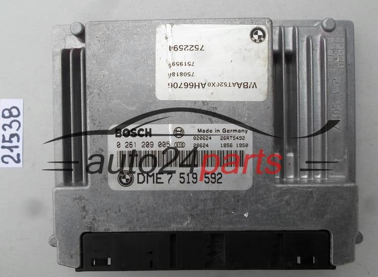 Ecu Engine Controller Bmw E46 318 2 0 Bosch 0 261 209 005 0261209005 Dme 7 519 592 Dme7519592 Auto24parts