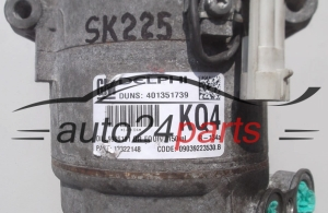 COMPRESSOR AIR CONDITIONING CON AIR CONDITIONING PUMP OPEL ASTRA 1.7 CDTI GM 13322148 KQ4, DELPHI 401351739