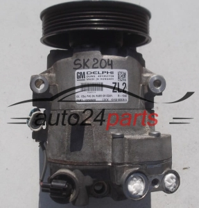 COMPRESSOR AIR CONDITIONING CON AIR CONDITIONING PUMP OPEL ASTRA MERIVA 1.4 DELPHI 13250608 ZL2