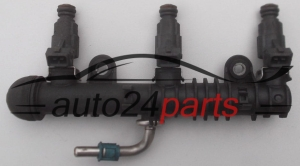 Fuel injector and fuel rail petrol OPEL AGILA ASTRA G CORSA C Z10,12,14XE BOSCH 0 280 155 965, 0280155965