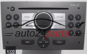 RADIO CD MP3  OPEL VECTRA  7 646 104 310 / 7646104310 / 13 233 929 SH / 13233929SH / CD30 - R222