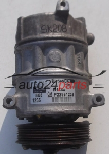 COMPRESSOR AIR CONDITIONING CON AIR CONDITIONING PUMP OPEL ASTRA INSIGNIA 2.0 CDTI GM P22861236, SANDEN PXE16