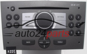 RADIO CD MP3  OPEL ASTRA  93 180 959 AZ / 93180959AZ / 7 643 103 610 / 7643103610 / CD30 - R225