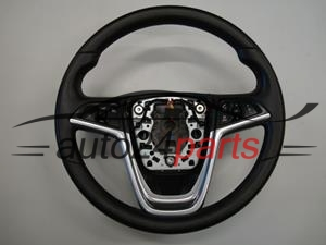 STEERING WHEEL LEATHER MULTIFUNKTION OPEL INSIGNIA 2009
