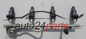 Fuel injector and fuel rail petrol OPEL Z18XE 09158663, 5WS04490