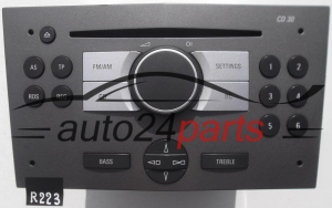 RADIO CD  OPEL ASTRA  7 644 221 310 / 7644221310 / 13 190 856 YY / 13190856YY / CD30 - R223, R260, R267