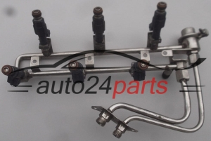 Fuel injector and fuel rail petrol OPEL ASTRA OMEGA VECTRA Z32SE, X25XE, X26XE BOSCH 0 280 155 712, 0280155712