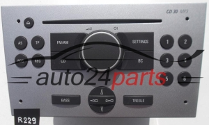 RADIO CD MP3 OPEL  7 643 104 317 / 7643104317/ 13 167 830 FH / 13167830FH / CD30 - R229