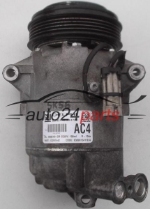 COMPRESSOR AIR CONDITIONING CON AIR CONDITIONING PUMP OPEL ASTRA H MERIVA ZAFIRA B 1.6 Z16XE1 Z16XER GM 13297442 AC4, 9986181, DELPHI 401351739