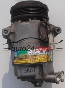 COMPRESSOR AIR CONDITIONING CON AIR CONDITIONING PUMP OPEL ASTRA CORSA MERIVA 1.0-1.6, 13124750 WK, GM 6854091, DELPHI 4750