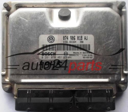 VW T4 ECU Motorsteuergerät 074906018AJ 074 906 018 AJ 0281010461 0 281 010 461